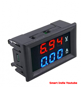 How to Use digital voltage and Ampere meter In Hindi